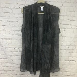 Coldwater Creek Sleeveless Sheer Top One Size